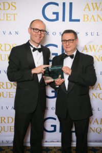 Nebula CEO, Danie Nel Receiving the Frost & Sullivan Technology Innovation Award